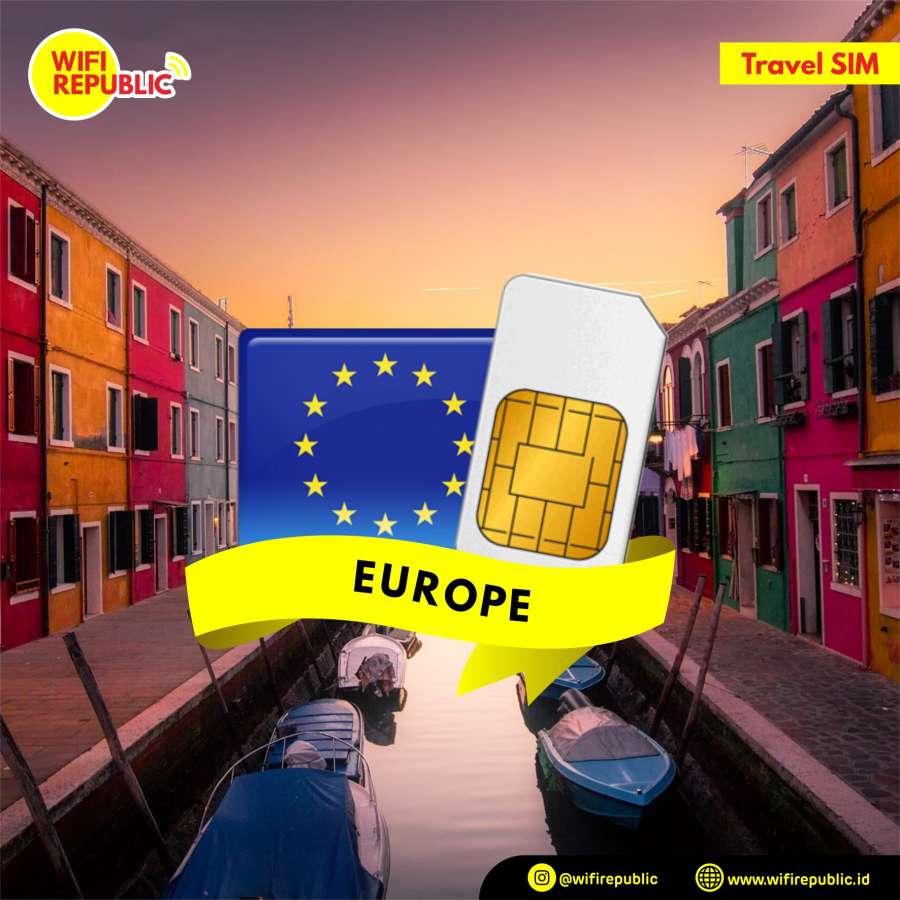 Gambar SIM Card Europe - 15 Hari UNLIMITED