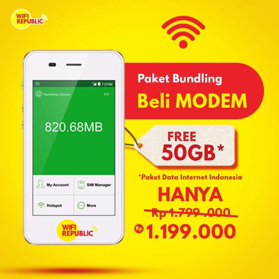 Gambar Bundling Modem Wifi Bonus 50 GB Internet Indonesia