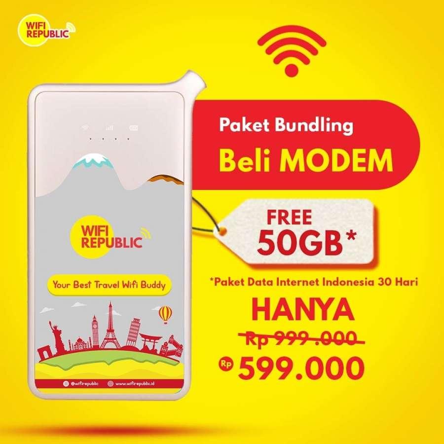 Gambar Promo Modem Wifi Free 50 GB Internet Indonesia