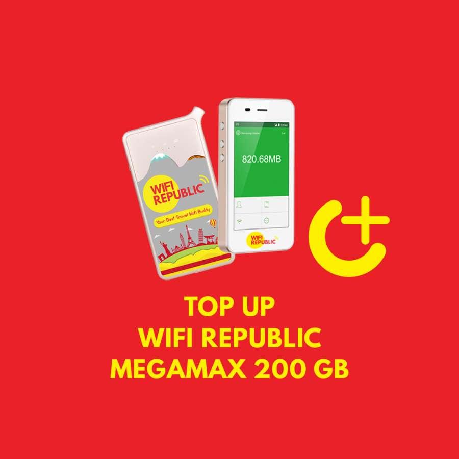 Gambar TOP UP Wifi Republic MEGAMAX 200 GB