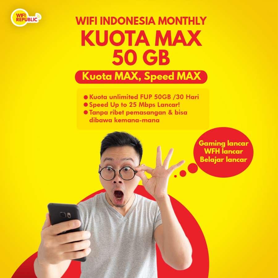 Gambar Internet Indonesia Wifirepublic KUOTAMAX 50 GB