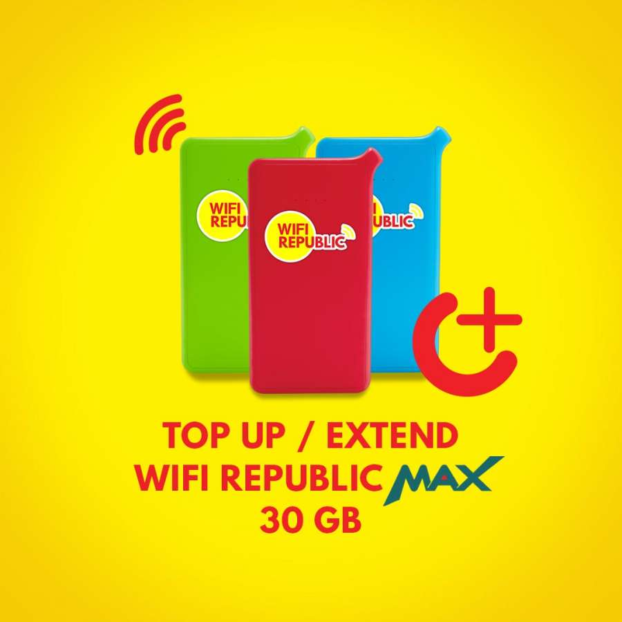 Gambar Top Up Wifi Indonesia MAX 30 GB
