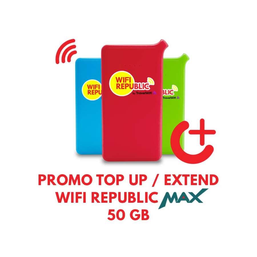 Promo Top UP Wifi Internet Indonesia MAX 50 GB