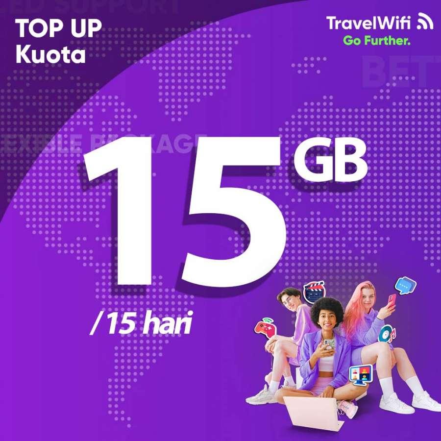 Gambar Top Up TravelWifi 15 GB