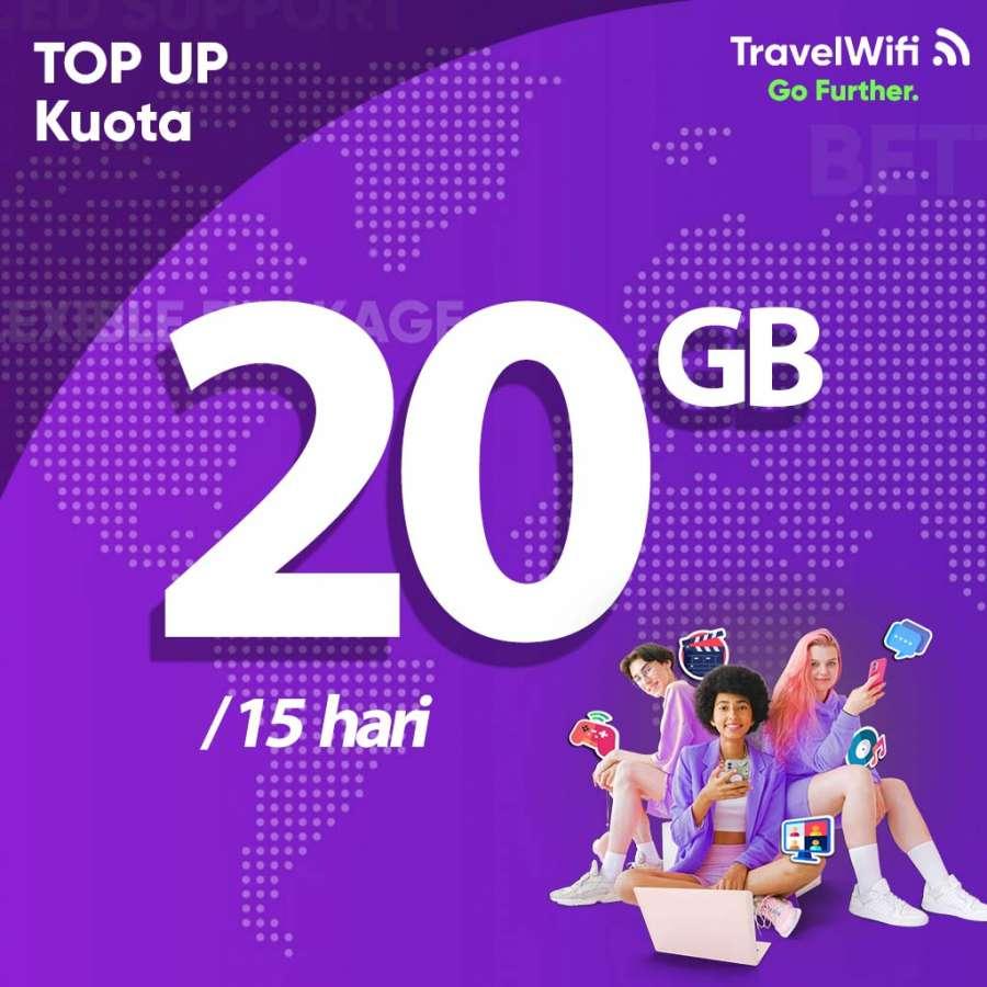 Gambar Top Up TravelWifi Internet Indonesia 20 GB