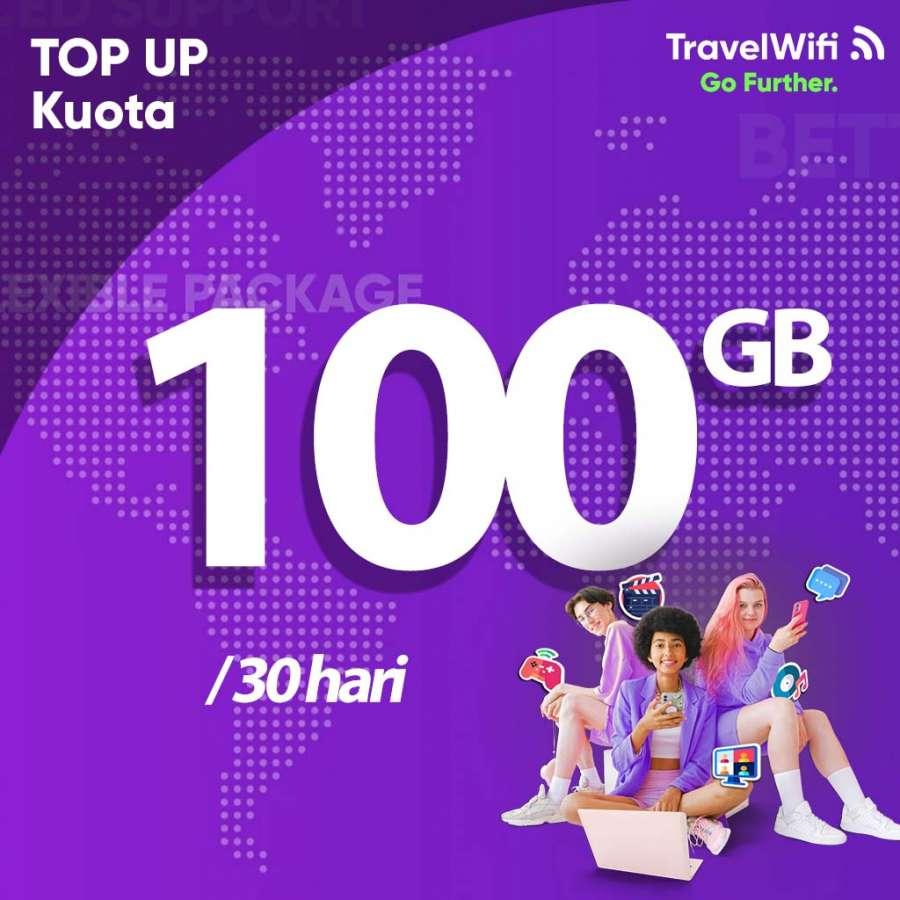 Gambar Top Up TravelWifi Internet Indonesia 100 GB