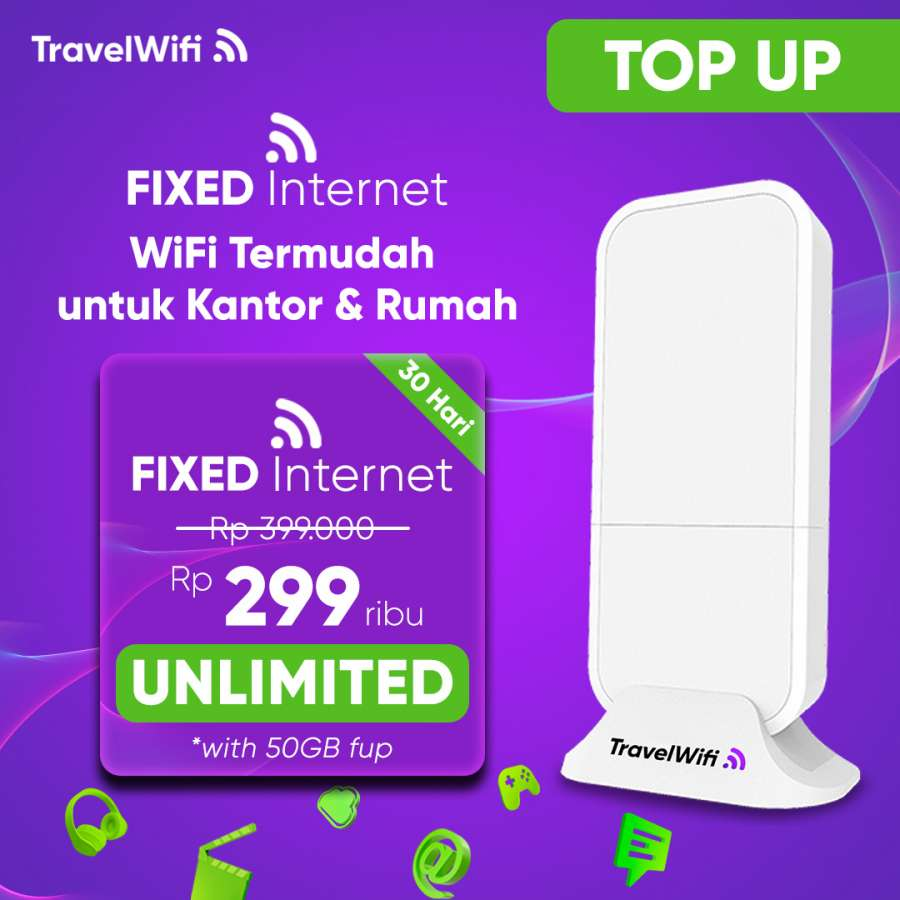 Gambar Top Up TravelWifi Fixed Internet50 GB